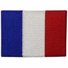 France Embroidery Iron On Flag Patches Washable Custom Cloth Patches