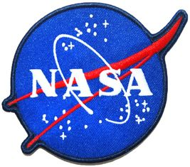 Sew On Custom Woven Badges Merrow Border Embroidery Nasa Badge