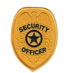 Officer Shoulder Embroidered Custom Iron On Patches Security Guard Patches