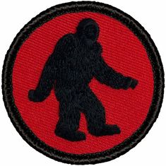 Bigfoot Patrol Custom Woven Badges Patch Round Embroidered Patches