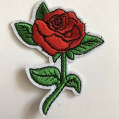 Rose Flower Butterfly Custom Woven Badges Patches for Garment Clothing