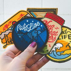 Travel Embroidery Custom Velcro Patches Laser Cutting Hook And Loop