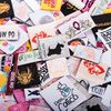Garment Tags And Labels 100% Polyester Fabric Woven Labels For Clothing
