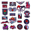 Garment Custom Woven Patches School Uniform Shoulder Badges Merrow Stiching