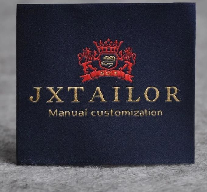 Custom Logo Personalized Apparel Labels Glue Adhesive Sticker Iron On Woven Labels